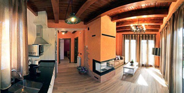 Apartamento Canela: Cocina y salón.